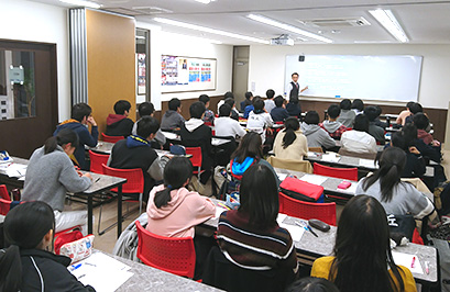 4階のライブ授業教室